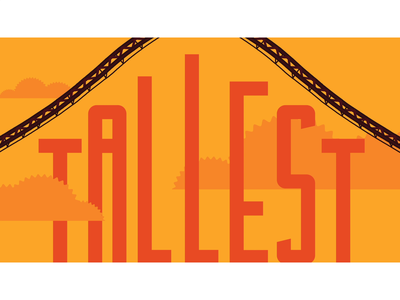 Candymonium '-Est' Animations animation video design coaster roller coaster typography graphics motion graphics motion design motion sweetest longest fastest tallest