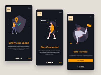 Onboarding for a Safety Navigation App
