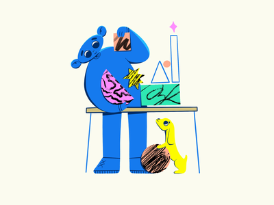Creative process boy onboarding illustration flat design procreate character illustration