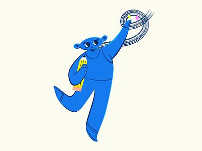 Up to stars ✨ flat onboarding illustration design character procreate illustration