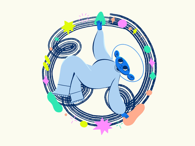 Flexibility boy onboarding illustration design procreate illustration character
