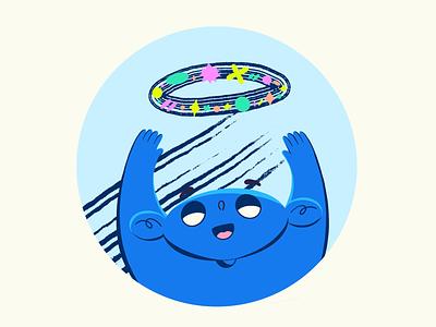 Life circle of apps onboarding illustration flat boy design procreate illustration character
