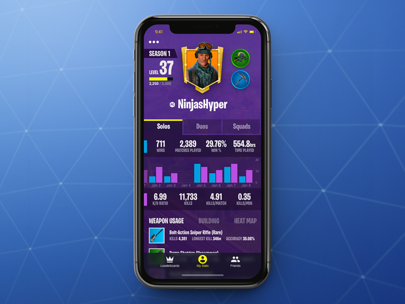 fortnite battle royale stats app - how to see your stats on fortnite