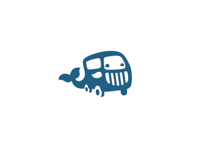Whale and bus sale unused branding brand logotype logo transportation food delivery wheels mustache tail grill mascot character cute funny big bus car