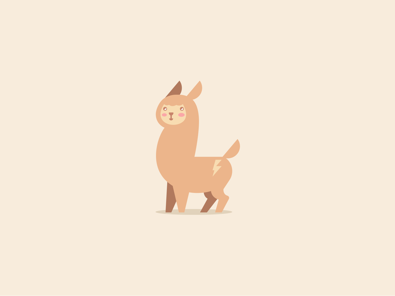 Llama Or Alpaca company business store shop club toys mascot cartoon child children branding logotype logo character cute animal alpaca