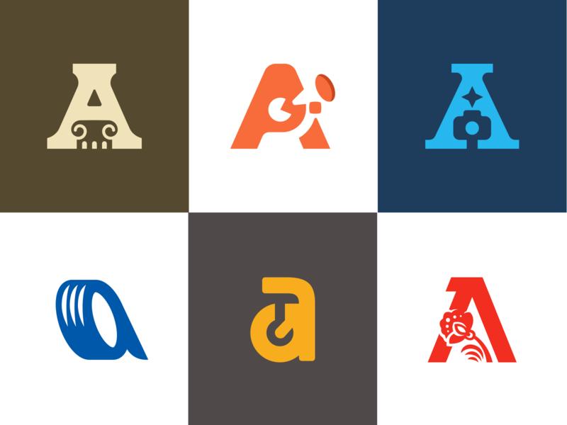 Letters A branding brand logotype logo sale a letter