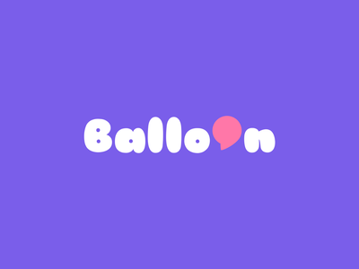 Balloon minimalism communication speak talk bubble balloon creative elegant simple design modern brand branding logotype logo