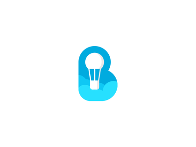 B and balloon creative elegant simple modern sale flat cartoon negativespace letter unused balloon brand branding logo logotype