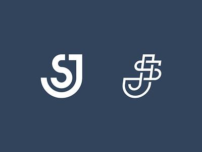 JS or SJ liner line creative elegant siple moder lettering typography letter unused sale brand branding logotype logo