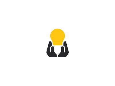 Hands and bulb sale bulb hand creative elegant simple modern design mark negativespace minmalism brand branding logotype logo