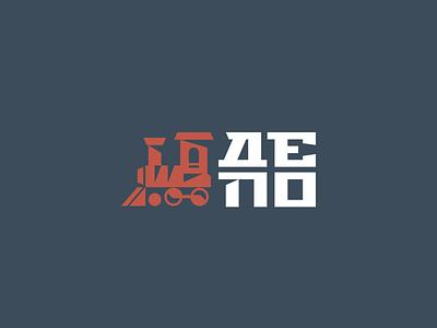 Depot flat design creative elegant simple modern sign mark geometric train depot brand branding logotype logo