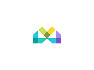 M directions minimalism arrow flat creative elegant simple modern typography letter m unused design sale brand branding logotype logo