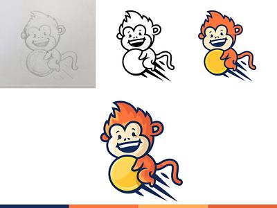 Making of Monkey Logo design modern business trading trade crypto money cokn illustration cartoon character mascot monkey process making brand branding logotype logo