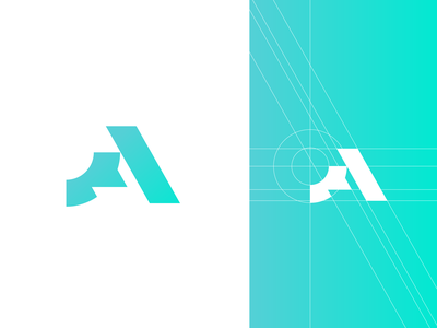 Letter A sign mark geometry smart minimalism creative elegant simple abstract a letter design sale modern brand branding logotype logo