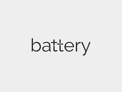 Battery smart minimalistic minimalism text design elegant sale modern brand branding logotype logo