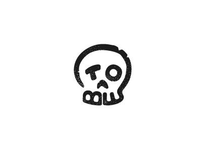 To be... hamlet shakespeare logotype logo skull
