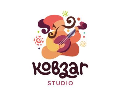 Kobzar musician singer folk logotype logo