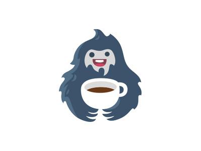 Yeti coffee y logotype logo cup cute hot drink tea coffee yeti