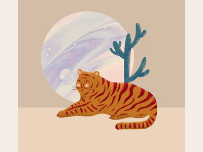 Arizona illustrator flat illustration photoshop illustration abstract animals illustrated tiger illustration tiger