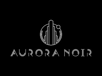 Aurora Noir sign design vector typography logo