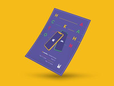 The hackathon poster mondaydotcom hack product development hackathon productdesign ui ux team mobilelegends design mobile print monday.com