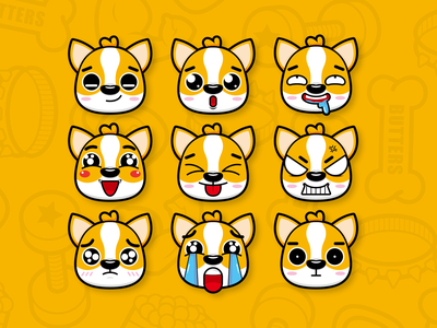 puppy expression dog figma adobe illustrator adobe xd sketch web design typography product design print mobile illustraion branding animation