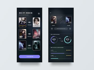 Movies movie user interface illustration design sketch ui