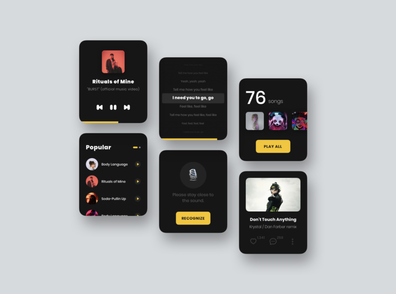 Apple Watch - Music music app user interface sketch design ui