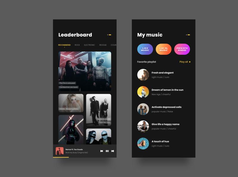 music app music figma user interface ai design ui