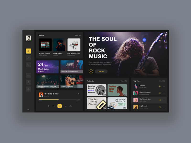 Music desktop application🎧 music figma sketch ui