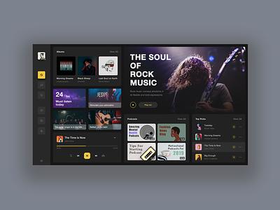 Music desktop application🎧 music figma sketch ui
