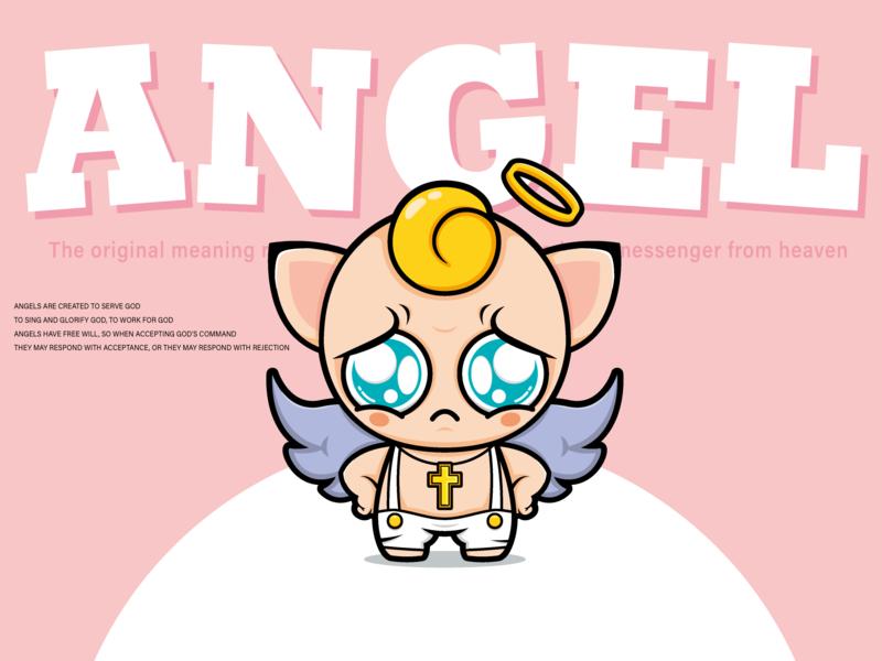 Cartoon image design - hello, I am ANGEL ui illustrator design china ai illustration