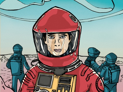 Space Odyssey, Illustrated poster.