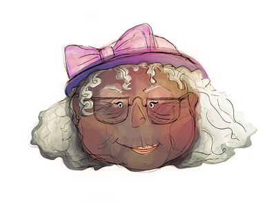 Sometimes you just wanna draw cute old ladies lady ladies old cute draw hat pink face character brushes photoshop