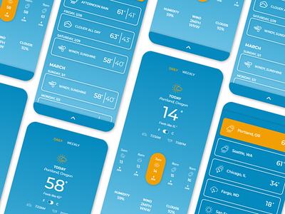 Weather App graphic design mobile app mobile design app design app web design ui design ux design
