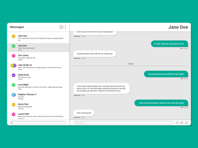 Android Messages for Web graphic design web design app design messaging app ui design ux design