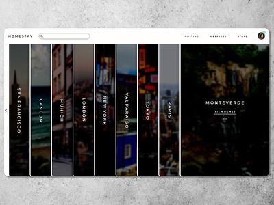 B&B Travel Site Home Page travel app explore home page landingpage web design ui design ux design travel