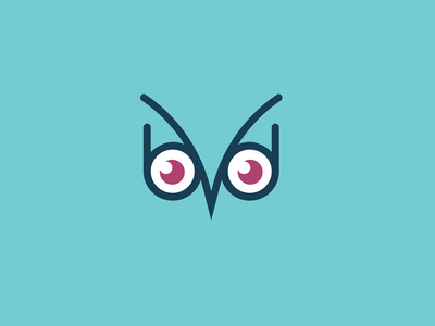 B and D Owl Logo graphic design flat design minimalist animal logo owl logo logo designer b logo owl branding logo design