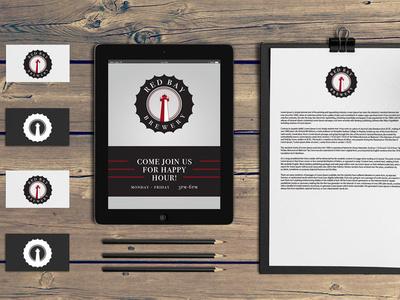Red Bay Brewing Branding branding logo design graphic design