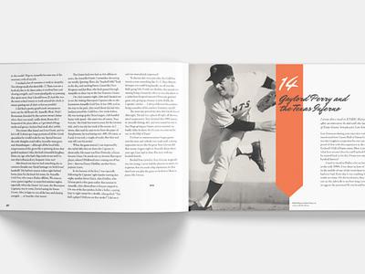 SF Giants Baseball coffee table book layout baseball book layout