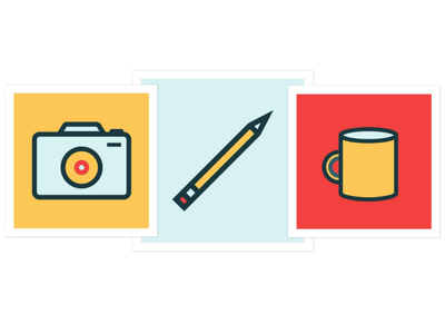 Creative Everyday Items Icon Set vector illustration iconography icons