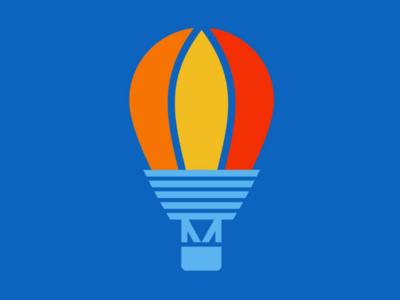 Adventure dream big adventure graphic design vector art logos logo design balloon hot air balloon