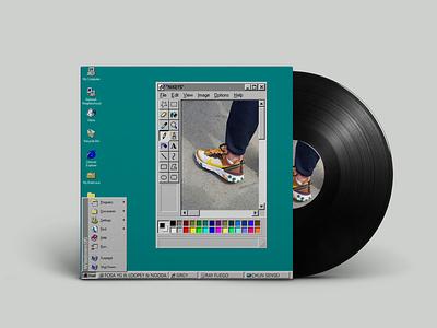 Nikey artcover typography illustration design