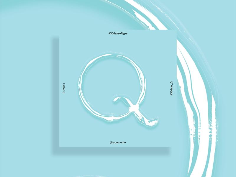 Q For Qua Means Aqua In Papiamento vector photoshop illustrator cc culture graphic design type aruba typography graphic design illustration