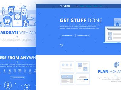 Todo app ui Design wireframe burkect todoapp ux ui webdesign landingpage
