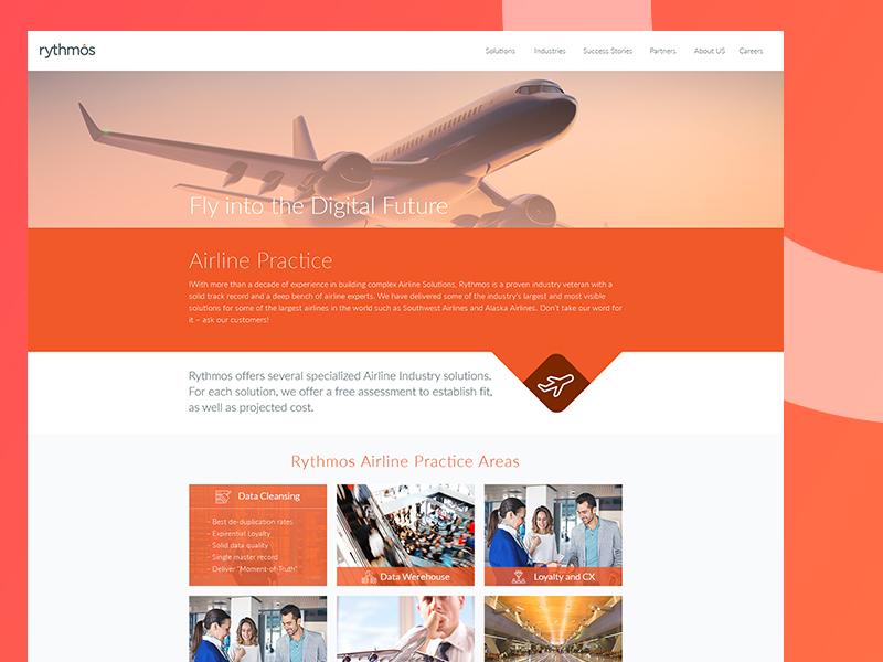 rythmos form wireframe landing icon design ux ui web air airline rythmos