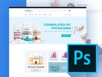 Ecommerce Webdesign PSD