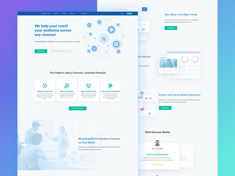 Influencer Marketing Website media audience marketing influence social icon webdesign web design illustration ux web ui