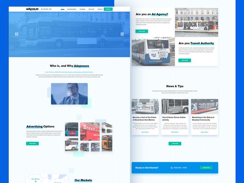 Adsposure Site advertising adsposure icon webdesign web design illustration web ux ui