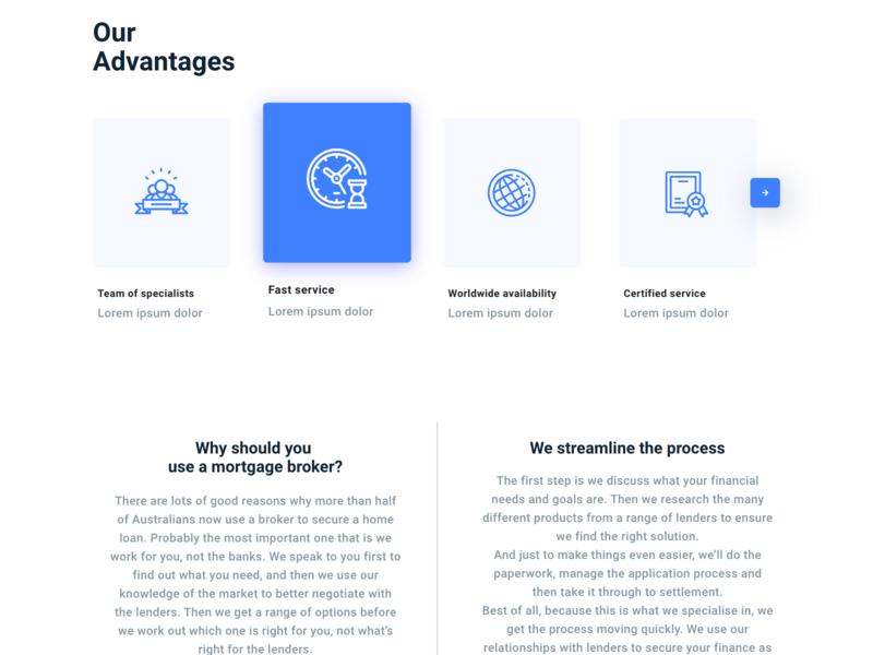 Atozhomeloan Website design landign page branding web design illustration ux web ui
